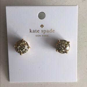 Kate Space gold stud earrings. New.
